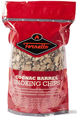Fornetto Smoking Wood Chips, Cognac, 14.oz Bag by Alfresco Home