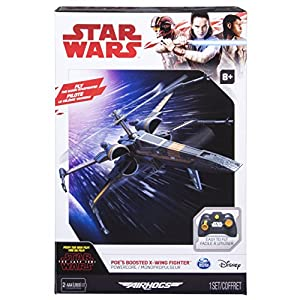 Air Hogs – Poe's Boosted X-Wing Fighter, Single Rotor Star Wars, Toy Jet