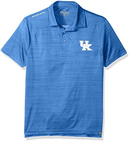 - Levelwear NCAA Kentucky Wildcats Men's Sway Wordmark Polo, Medium, Heather Royal