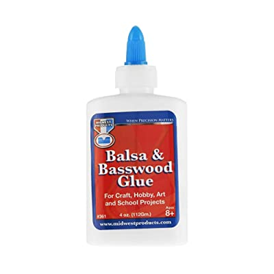 Midwest Glue Balsa & Basswood Glue 4 oz.: Toys & Games