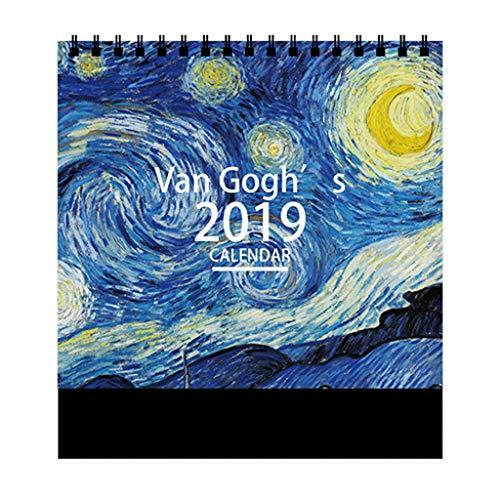 Simple y Creativo Nuevo Calendario de Escritorio 2019 Plan semanal Personalización de la decoración del Calendario mensual,...