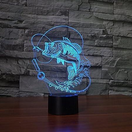 YTDZ - Lámpara de Noche con 7 Colores cambiantes y luz LED para ...