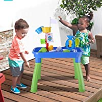 ☀ Dergo ☀Sand water table,Children Summer Beach Toy Large Baby Play Water Digging Sandglass Play Sand Tool