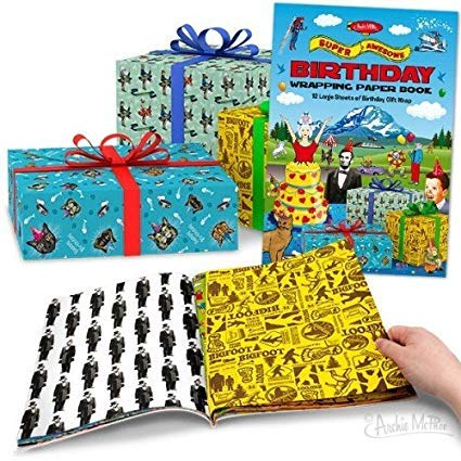 Super Awesome Birthday Wrapping Paper Book