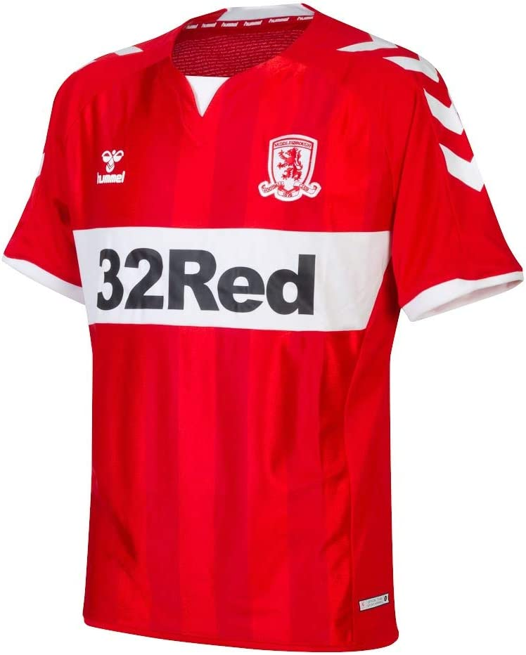 hummel 2018-2019 Middlesbrough Home Football Soccer T-Shirt Camiseta: Amazon.es: Deportes y aire libre