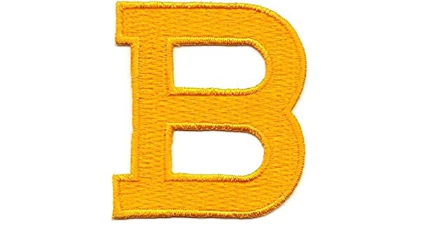 """1 7//8/"""" Bright Yellow Monogram Block letter B Embroidery Patch"""