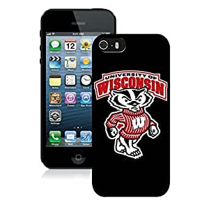 Beautiful Designed Case With Ncaa Big Ten Conference Football Wisconsin Badgers 2 Black For Case For Iphone 4/4S Cover