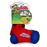 Penn-Plax Sock Chucker Dog Toy, Small, Red