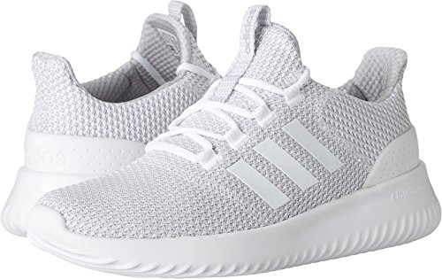 a2be2aa2535f adidas Men s Cloudfoam Ultimate Running Shoe White Grey