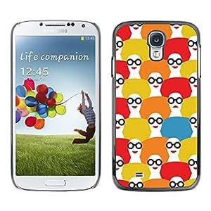 [Neutron-Star] Snap-on Series Teléfono Carcasa Funda Case Caso para Samsung Galaxy S4 [Patrón Fashion Girl Blanco Rojo]