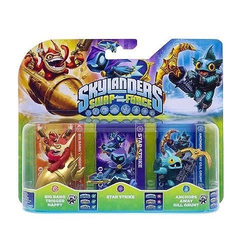 Figurine Skylanders : Swap Force - Star Strike + Anchors Away Gill Grunt + Big Bang Trigger Happy