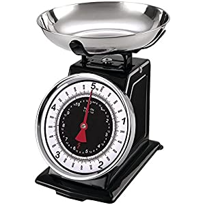 Starfrit 080211-003-0000 Retro Mechanical Kitchen Scales, Silver