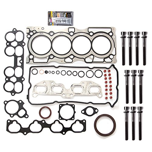 ECCPP Head Gasket Head Bolts Set Replacement for 02 03 04 05 06 Nissan Altima 2.5L Nissan Sentra 2.5L L4 DOHC - Engine Head Cylinder 5