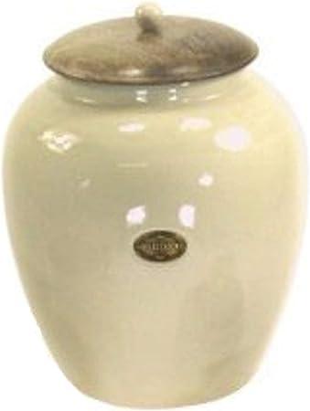 Large Cream Ceramic Bread Crock Breadbin Amazon Co Uk Kitchen Home