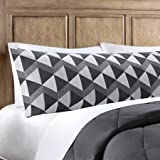 Microfiber Body Pillow Cover - Grey Stripes