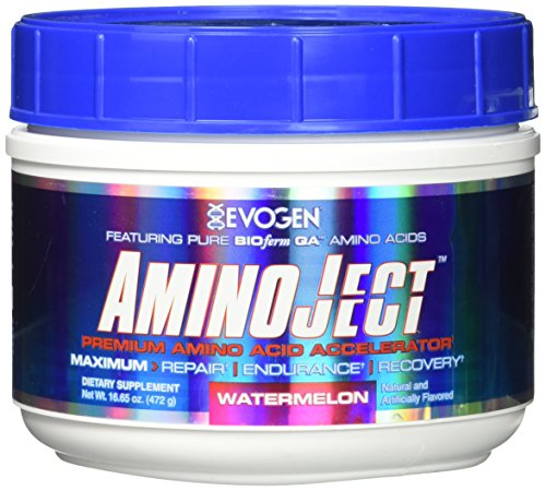 Evogen Aminoject 30 Servings Amino Acids, Watermelon, 16.65 Ounce