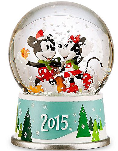Disneys Mickey and Minnie Mouse Holiday Snowglobe - 2015 Edition by Disney (Image #1)