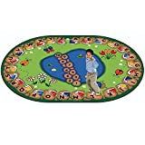 Step Into Learning 8'3'' x 11'8' Oval Educational Classroom Rug
