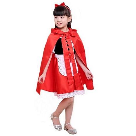 Disfraces Para Halloween De Caperucita Roja.Disfraz De Caperucita Roja Para Halloween Para Ninas Elegante Con Capucha Y Con Capa