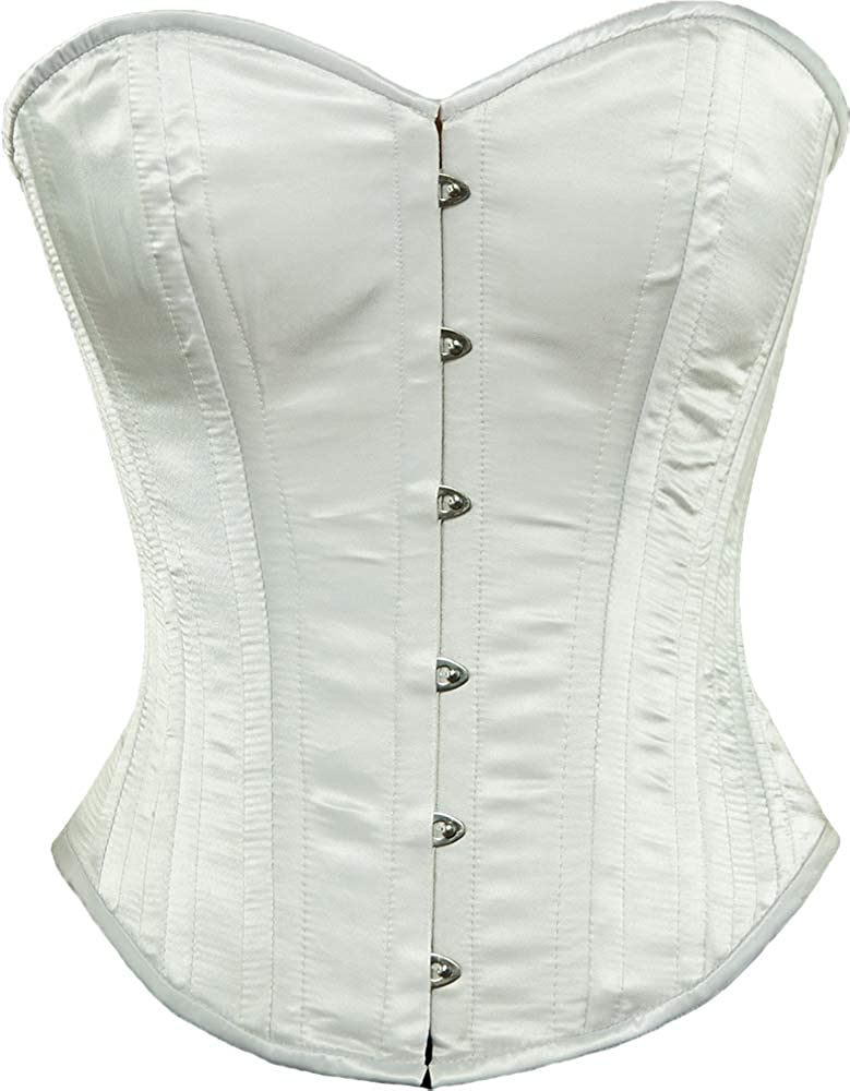 Victorian Corsets – Old Fashioned Corsets & Patterns Orchard Corset CS-530 Womens Satin Overbust Steel Boned Waist Training Corset  AT vintagedancer.com
