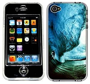 Surf Surfer Surfing Wave Handmade iPhone 4 4S Full Hard Plastic Case