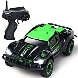 SGILE Mini Remote Control Car Race Car - 4WD 2.4Ghz 15 km/hr High Speed RC Off-road Vehicle with Cool LED Light - Electric Radio Truck Rock Crawler for Kids Adults