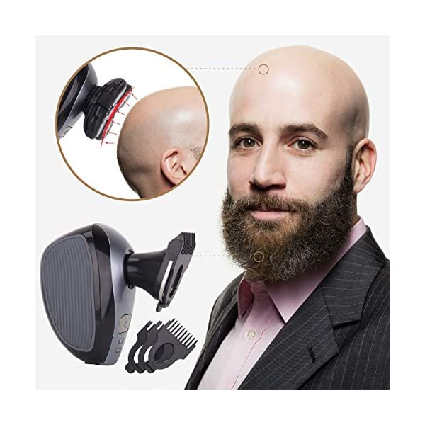 Mens-5-in-1-Electric-Shaver-Grooming-Kit-by-AsaVea-Five-Headed-Beard-Hair-Razor-for-a-Perfect-Bald-Look-Cordless-and-Rechargeable