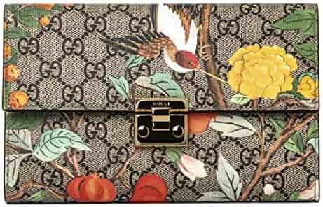 99ba3624b30 Amazon.com  Gucci GG Tian CLUTCH Bag Flowers Hummingbird Bird Signature Box  New  Shoes
