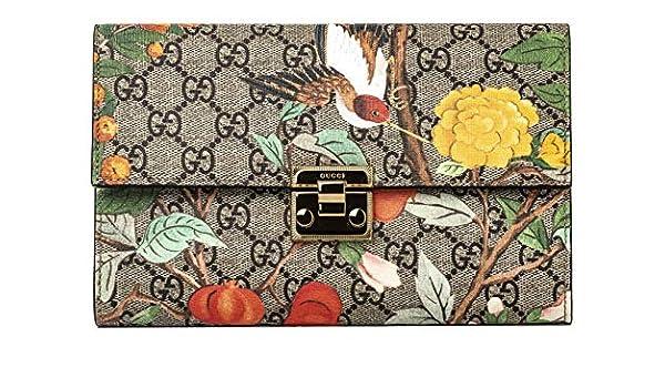 bc60e5ab7e57 Amazon.com: Gucci GG Tian CLUTCH Bag Flowers Hummingbird Bird Signature Box  New: Shoes