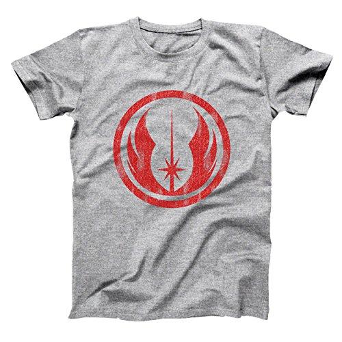 Jedi Order Vintage Symbol Logo Emblem Funny Geek Nerd Nerdy Sci Fi 80S 90S Humor Mens Shirt X Large Gray