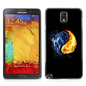 Designer Depo Hard Protection Case for Samsung Galaxy Note 3 N9000 / Yin & Yang Fire Water Elements