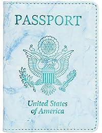 ad8647ba0 Leather Passport Holder Cover Case RFID Blocking Travel Wallet