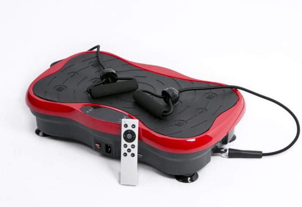 HYYQG 振動電源板,力量健身房健身運動在家99級失去脂肪和音調| 阻力帶| 易於存儲減肥和身體爽膚, 赤