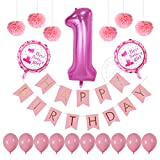 Happy Birthday banner Kits For 1st birthday party decorations Light Blue ...