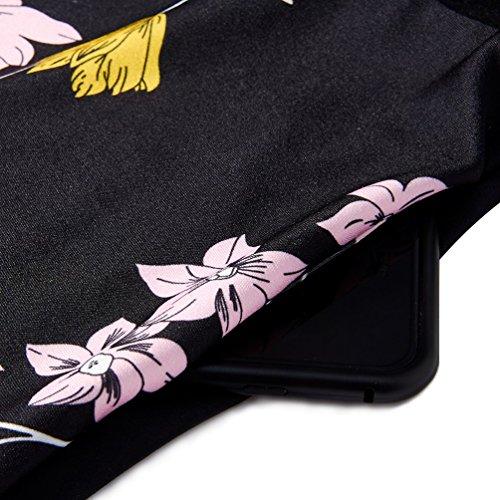 Tirantes Sin Floral Sin Verano con Vestido 2 Bolsillos Beach Vestidos Floral XL Mangas Descubiertos Halter RAISEVERN Hombros S cU8q0S1dwq