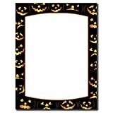 Image Shop Pumpkin Faces Halloween Letterhead Laser & Inkjet Printer Paper (100pk),Orange, Black