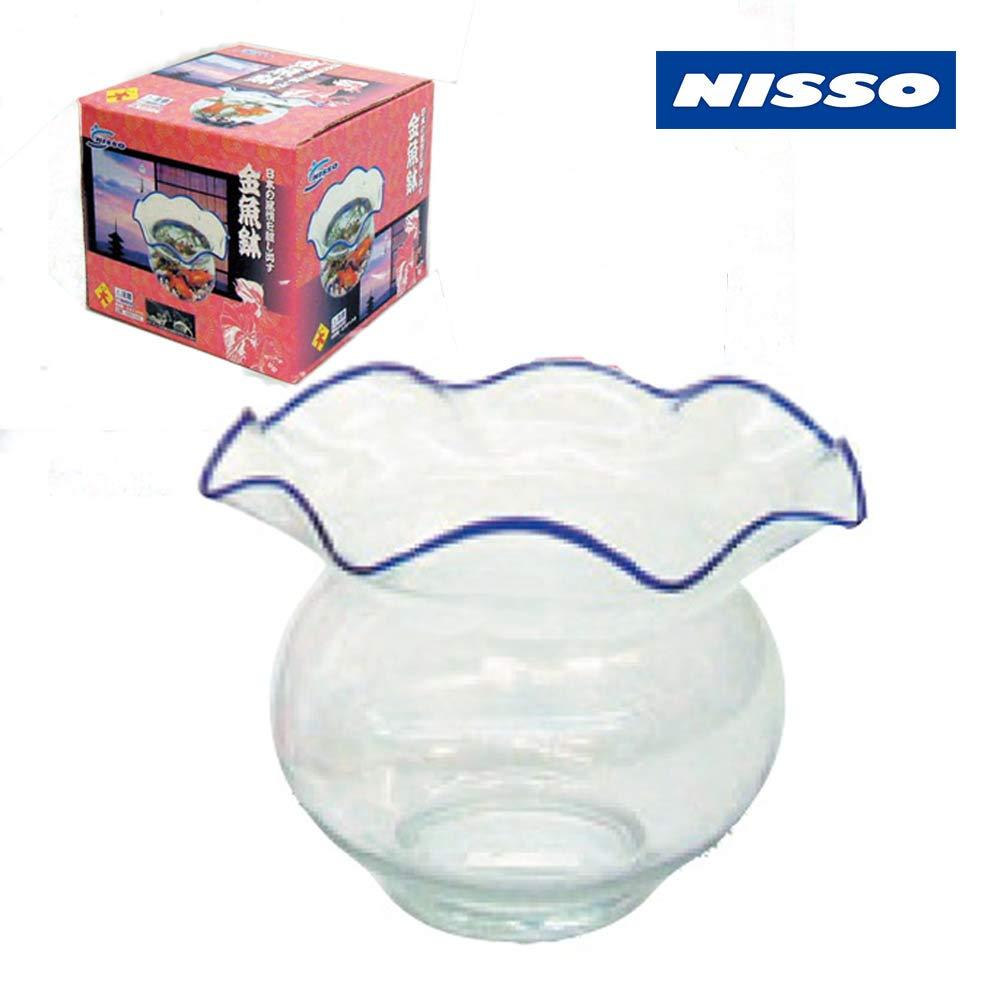 ニッソー ガラス製金魚鉢 大 幅24.5m