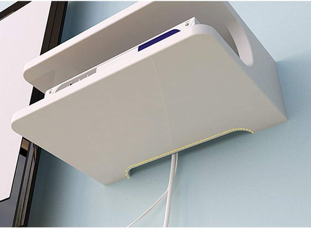 Veuillez Vous Report 2 Niveaux YANQ Tablette Flottante pour Composants de t/él/évision Console multim/édia Murale en m/étal pour bo/îtes de c/âbles//routeurs//t/él/écommandes//lecteurs DVD//Consoles de Jeu