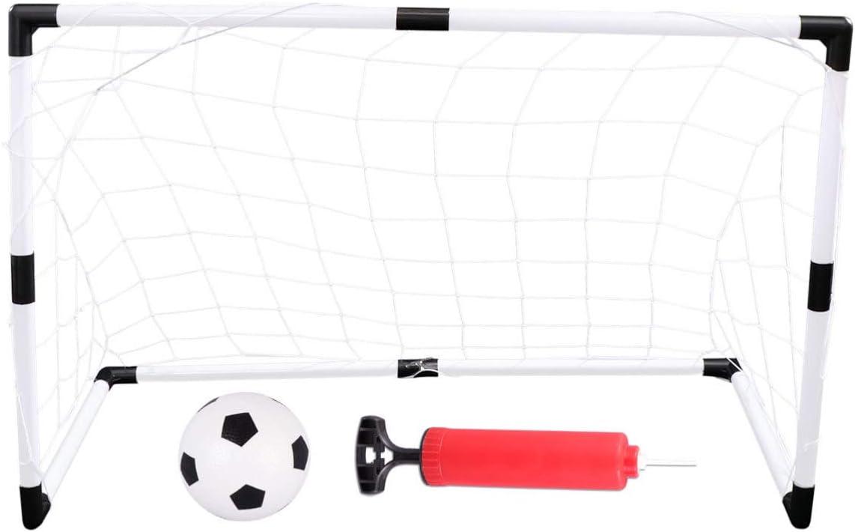 PRETYZOOM Juego de Mini Puerta Inflable de Fútbol con Puerta de Fútbol para Niños Balón de Fútbol de Juguete Y Accesorio de Entrenamiento de Bomba para Deportes Interiores Y Exteriores