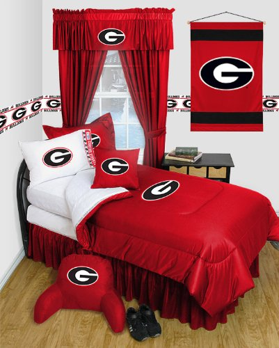 NCAA Georgia Bulldogs Locker Room Comforter - Bulldogs Queen Comforter