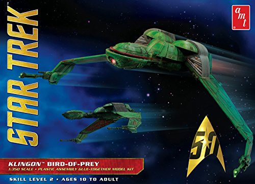 AMT 949 Star Trek Klingon Bird-Of-Prey 1:350 Scale Plastic Model Kit - Requires Assembly