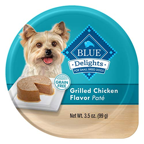 Blue Buffalo Divine Delights Natural Adult Small Breed Wet Dog Food Cup, Grilled Chicken Flavor in Savory Juice 3.5-oz (Pack of 12) (Blue Buffalo Dog Toy Breed)
