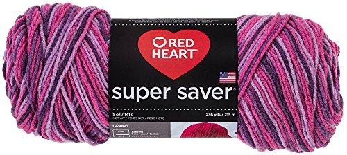 Red Heart  Super Saver Economy Yarn, Plum Pudding Print