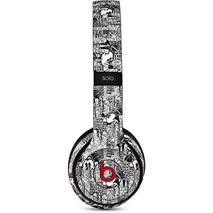 Mickey Mouse Beats Solo 3 Wireless Skin - Mickey Mouse Cityscape Sketch Vinyl Decal Skin For
