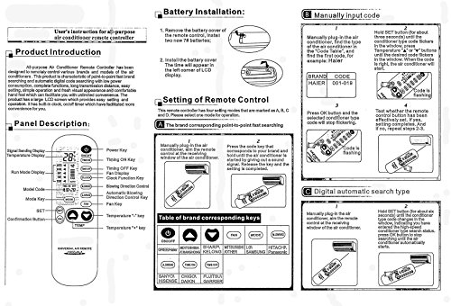 fujitsu air conditioning remote control instructions