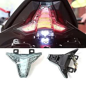 CHUDAN Z1000 Motocicleta LED luz de Giro luz Trasera ...