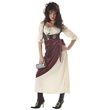 Amazon.com: De la Mujer Tavern Wench Traje (Tamaño: X-Large ...