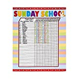 Fun Express Sunday School Attendance Sticker Chart (Set of 6)