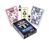 Fournier WSOP Poker Size Jumbo Index Playing Cards (Blue)