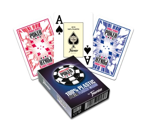 Fournier WSOP Poker Size Jumbo Index Playing Cards (Blue) by Fournier